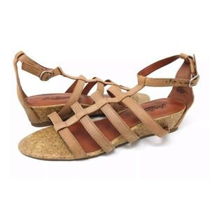 LUCKY BRAND lanser suede strappy sandals
